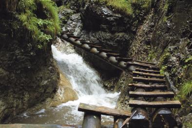 Slovak Paradise waterfall