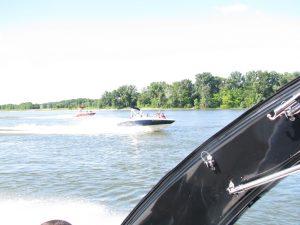 Speedboats Bratislava Danube river